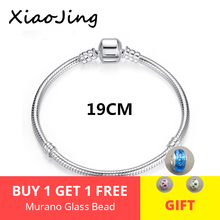 Classic 100% 925 Sterling Silver Basic Chain Snake Clasp Fits Charm Bracelets & Necklaces Fashion Jewelry Women Gifts dark blue leather bracelets and necklaces for women jewelry making fits european bead charm 925 sterling silver starry sky clasp