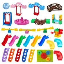 Blocks Amusement Park Accessory Slide Ladder Swing Seesaw Carousel Big Large-particle City Building Children's Gift Bricks Toy