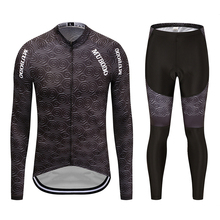Ropa ciclismo invierno hombre termica 2019 winter cycling clothing gray men bike cycling clothing thermal fleece long sleeve set