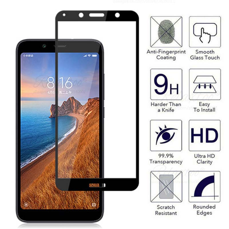 Tempered Glass For Xiaomi Redmi 7A Screen Protector Glass On For Redmi 7A 5.45 7 A A7 Global Version Safety Film Xiomi Redmi7A