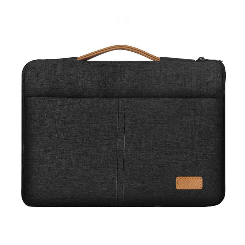 Pochette d'ordinateur 13.3 15.6 pouces étanche sacoche pour ordinateur portable pour Macbook Air Pro/Asus/Lenovo mallette de voyage sac à main porte-documents