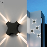 Aluminum Cross Starlight Wall Lamp LED Indoor Outdoor Hotel Living Room Corridor Waterproof Simple Modern Sconce Wall Lights