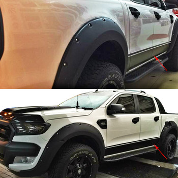 free shipping left and right wiltrack marking side body door stripe waistline car styling stickers for Ford Ranger