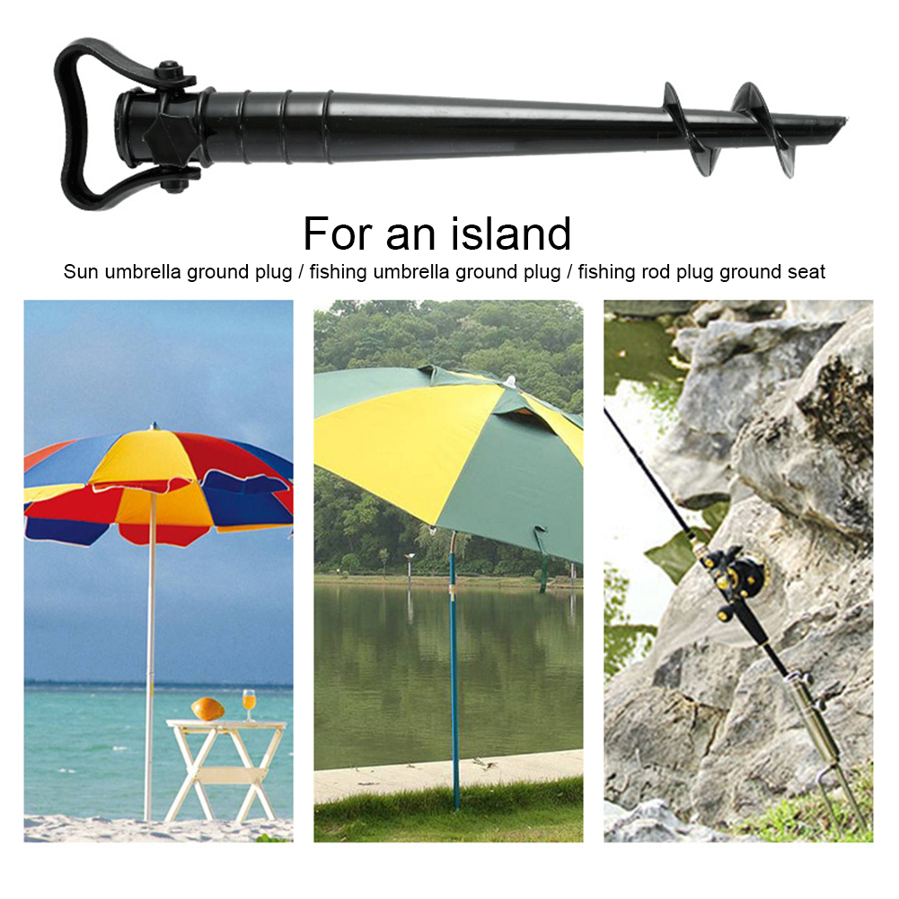 Windproof Fishing Stand Garden Patio Removable Portable Fixed Rain Gear Ground Anchor Beach Umbrella Spike Parasol Manual