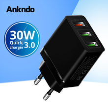 3 Port USB Charger Quick Charge3.0 Fast Charger QC3.0 QC2.0 Multi Usb Wall Adapter Charging For Android Smartphone Tablet