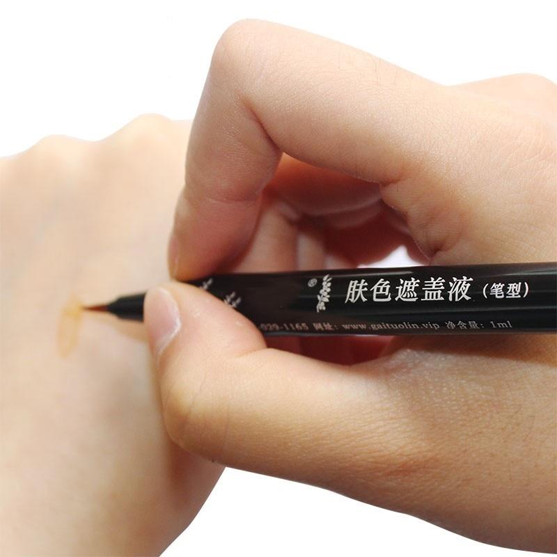 Leukoderma Covering Pen Waterproof Vitiligo Concealer Plant Essence Liquid For Body Face Hidden Discolored Skin Patches Makeup
