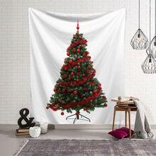 Богемное украшение 95x73 см рождественские настенные гобелены Висячие деревья узор декоративный праздничный новогодний хиппи колдовство психоделический