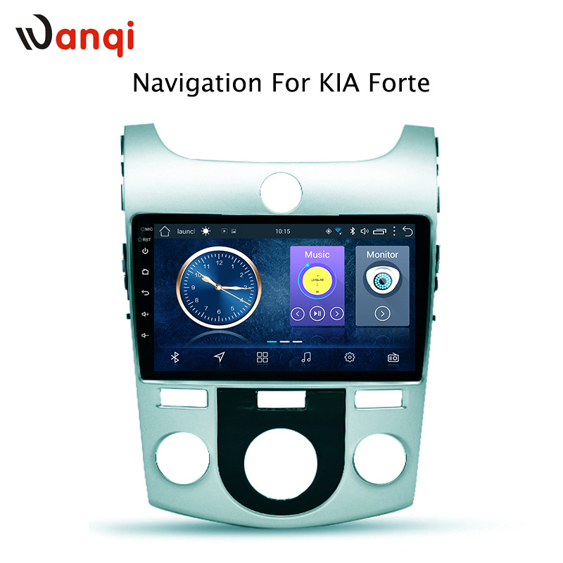 wanqi 9 inch android 8.1 Car Radio DVD Player for KIA forte 2009-2014 GPS Navigation support DVR Rear Camera Mirror link RDS image