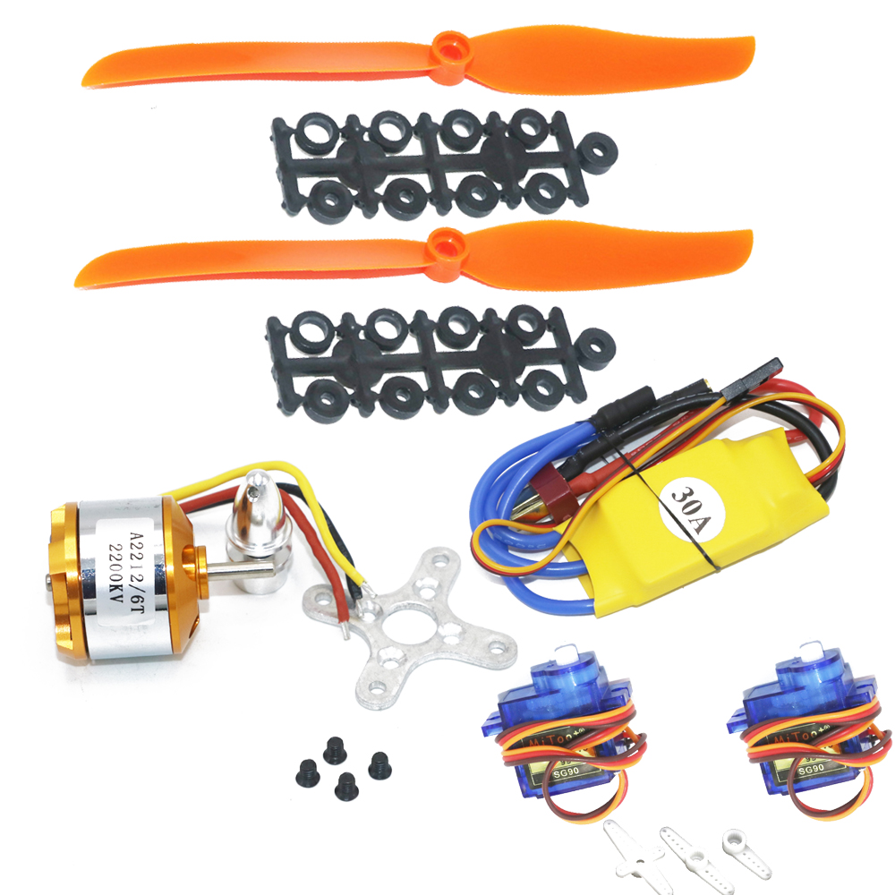A2212 2212 2200KV Brushless Motor&30A ESC&<font><b>6035</b></font> <font><b>Propeller</b></font>&SG90 9G Micro Servo for RC Fixed Wing Plane Helicopter image