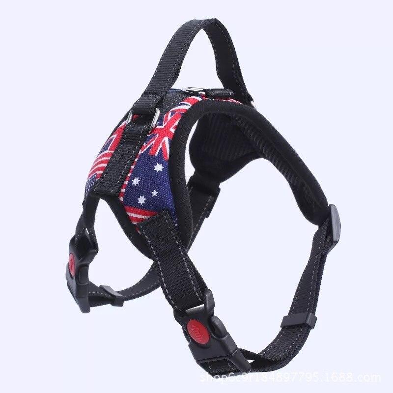 Dog Hand Holding Rope Small Dog Corgi Vest Style Suspender Strap Dog Chain Neck Ring Medium-sized Dog Labrador Dog Rope