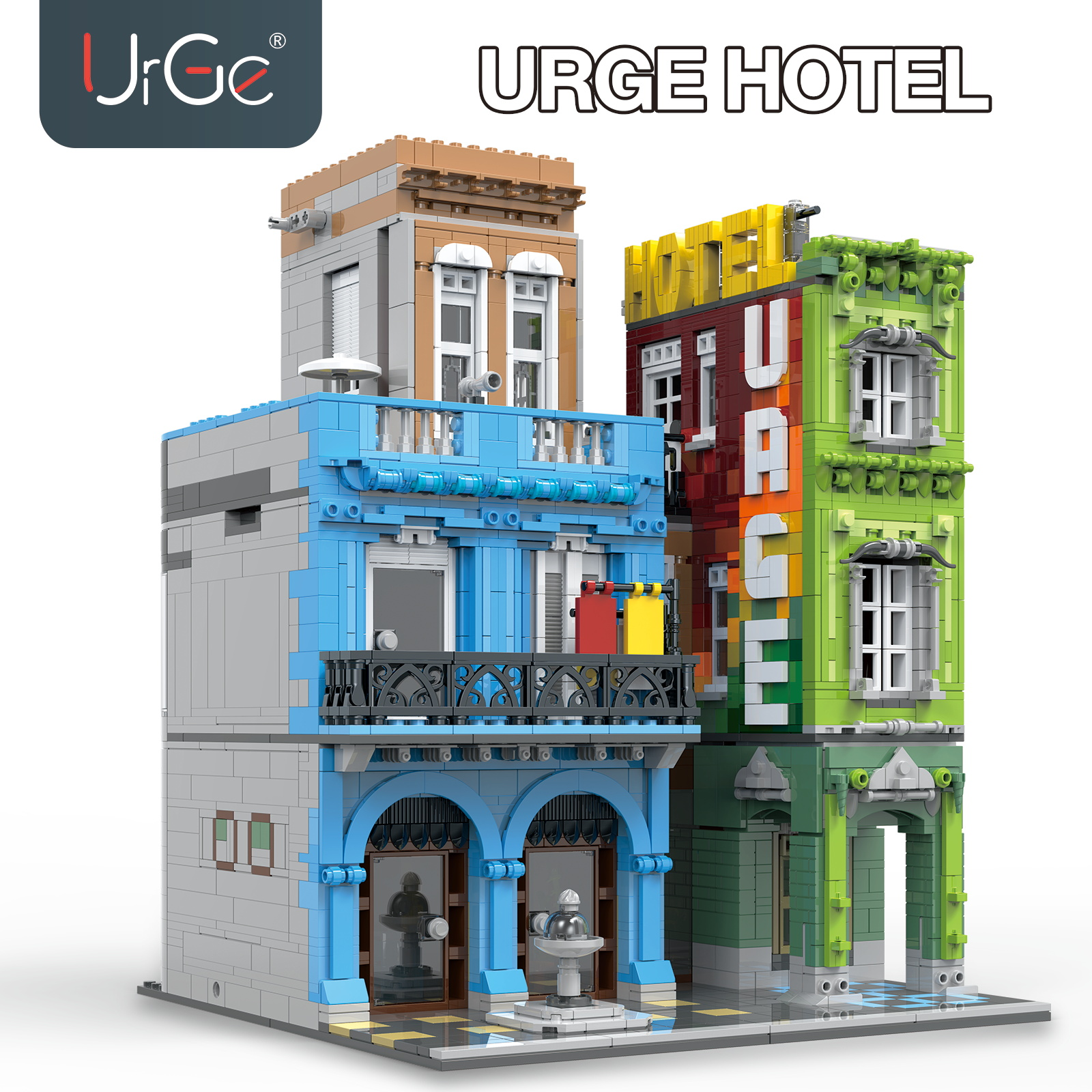 MOC 4143pcs City Streetview Series The brickstive Urge Hotel Model Building Kits Blocks Bricks Kids Toys Gifts Christmas gift