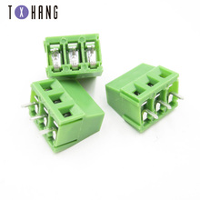 10pcs KF128 3.81mm PCB Screw Termina Block KF128-3.81 3P  Splice Terminals Connector Can be stitched