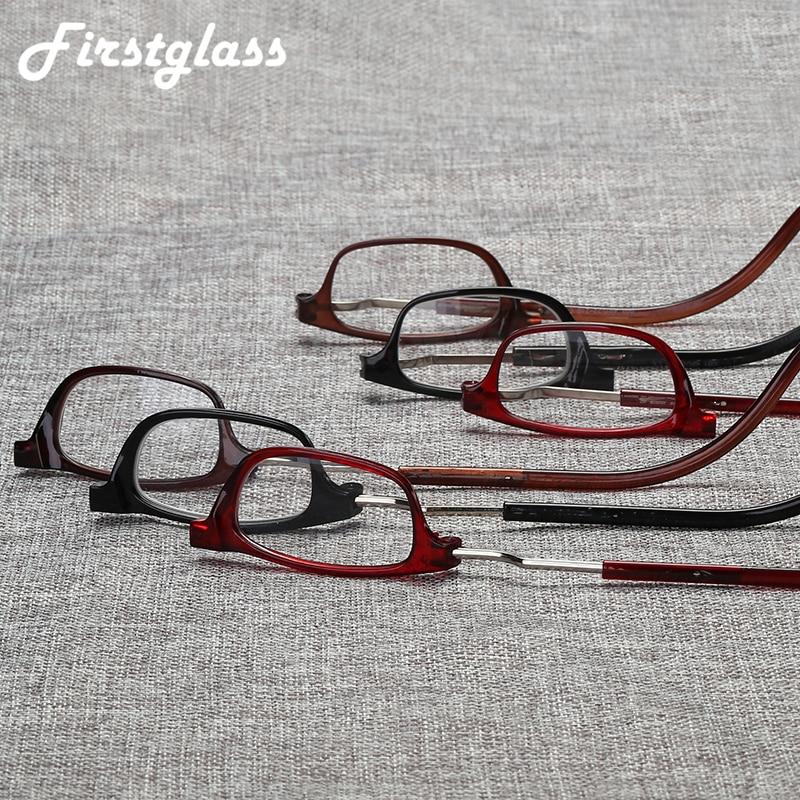 Потворствовать Регулируемый с завязками на шее, при дальнозоркости очки Для мужчин с постоянным магнитом, Портативный очки для чтения Для ж...