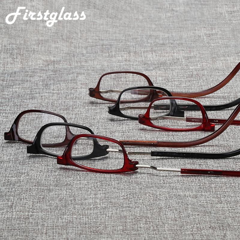 PANDER Adjustable Hanging Neck Presbyopia Glasses Men Permanent Magnetic Portable Reading Glasses Women Full Frame Square Gafas