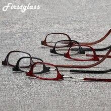 Pander ajustável pendurado pescoço presbiopia óculos de leitura portátil magnético permanente feminino quadro completo quadrado gafas