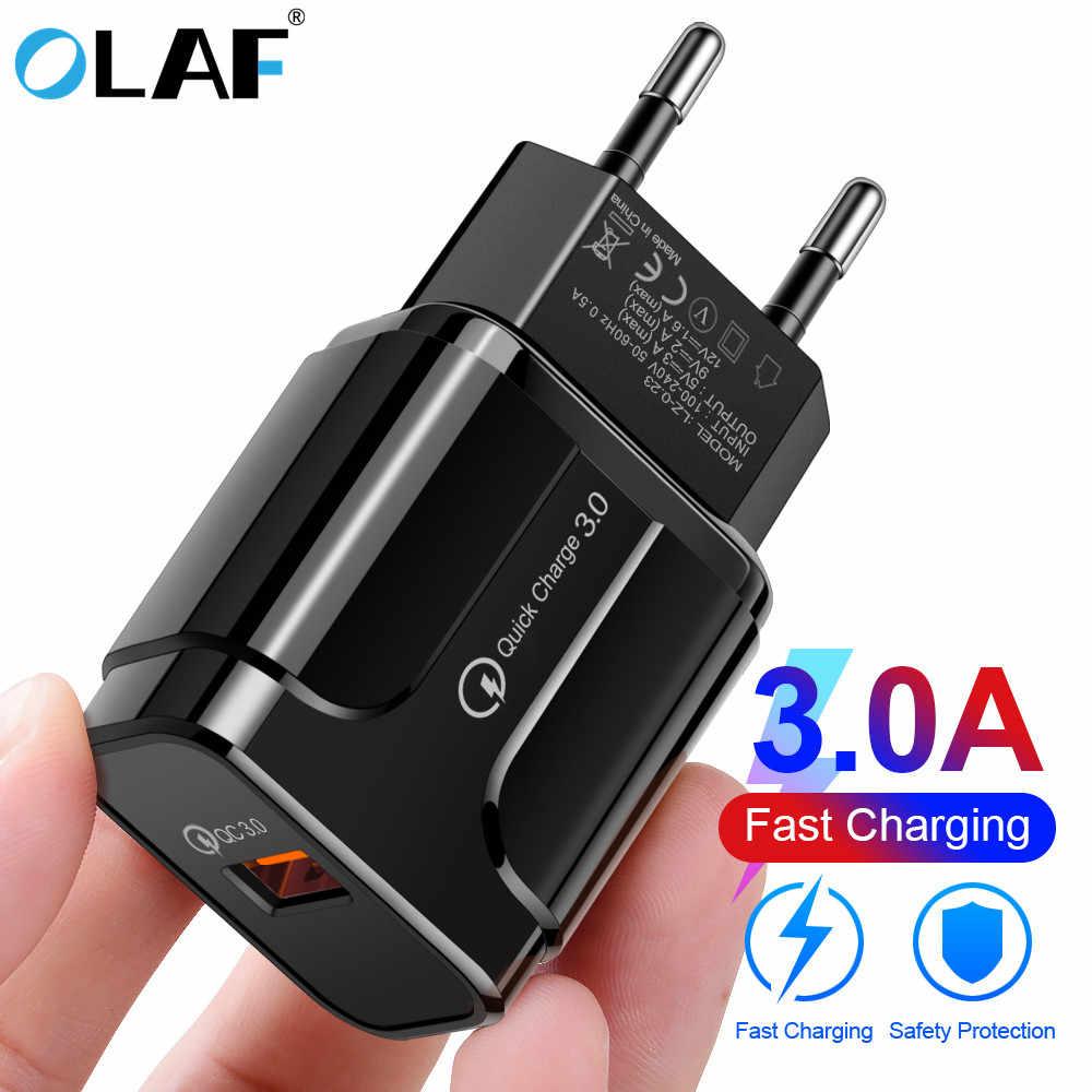 OLAF 18W Quick Charge 3.0 3A Rápido Carregador de Telefone Celular EUA Plug UE Parede Adaptador de Carregador USB para o iphone samsung Xiaomi Huawei