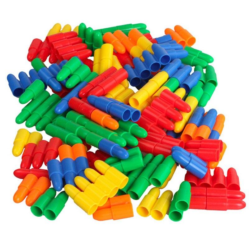 60Pcs Rocket Bullet Building Blocks Conduit  Block Plastic Puzzle Splicing Toy Boy Girl Chidren's Educational Toys Birthday Gift