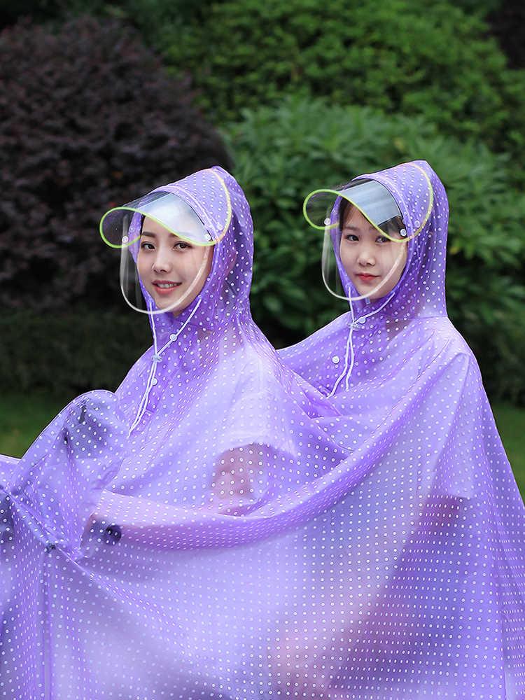 Abrigo de lluvia para Mujer motocicleta elegante moda transparente Impermeable Mujer Talla Grande Ud Las Palmas Futbol Rain Gear GG50yy