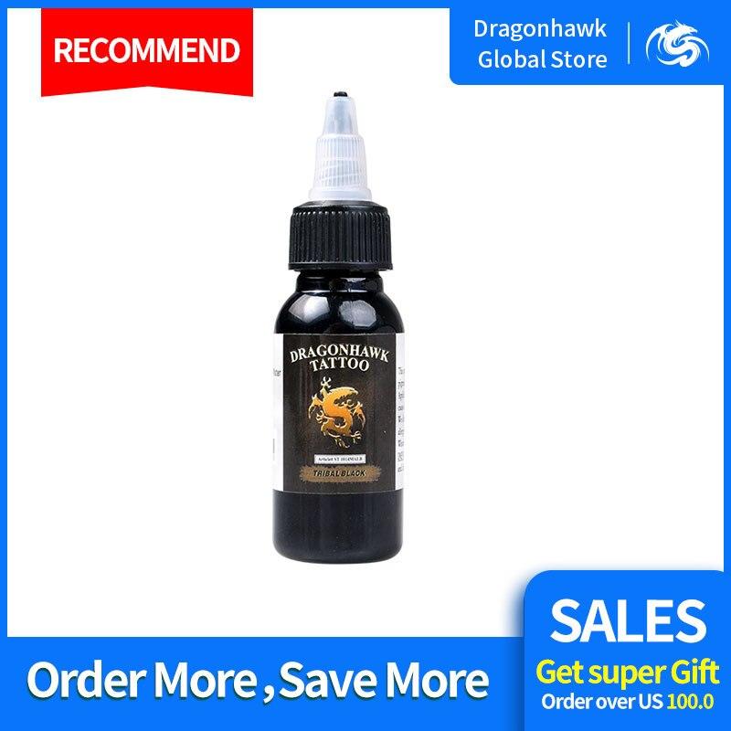Free Shipping Dragonhawk Tattoo Ink 1-PACK Black Color Set 1oz Bottles Color 30ml
