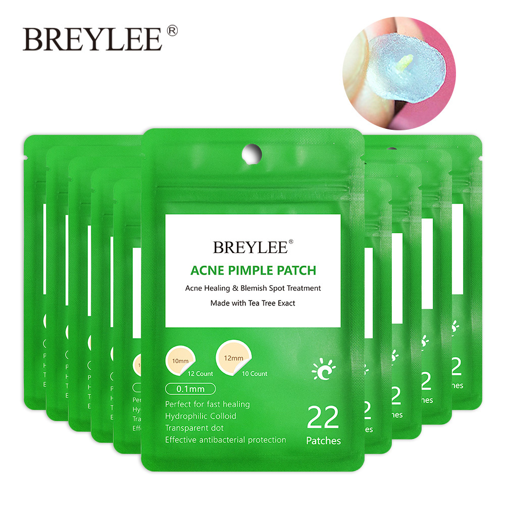 BREYLEE Acne Pimple Patch Face Mask Peeling Treatment Cream Remover Blackhead Tool Blemish Spot Repair Skin Care Daily Use 10PCS