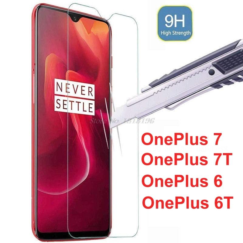 Pro OnePlus 7T 7 Tvrzené sklo Originální 9H Ochranné skleněné fólie Chrániče proti výbuchu pro skleněné fólie OnePlus 6T 6