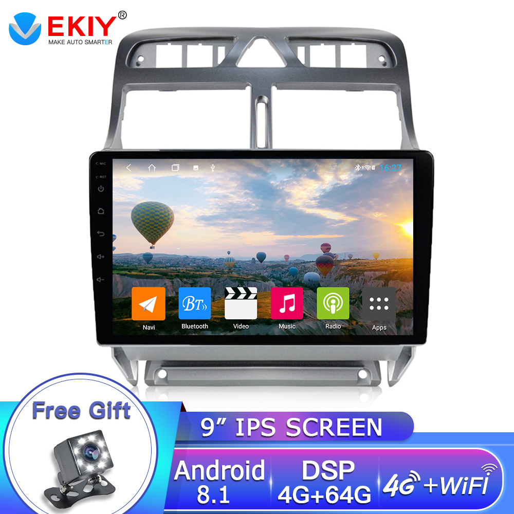 EKIY 9'' IPS <font><b>2Din</b></font> Android 8.1 Car DVD Player GPS Navigation Multimedia <font><b>For</b></font> <font><b>Peugeot</b></font> <font><b>307</b></font> 307CC 307SW <font><b>Radio</b></font> 2002-2013 Car Stereo image