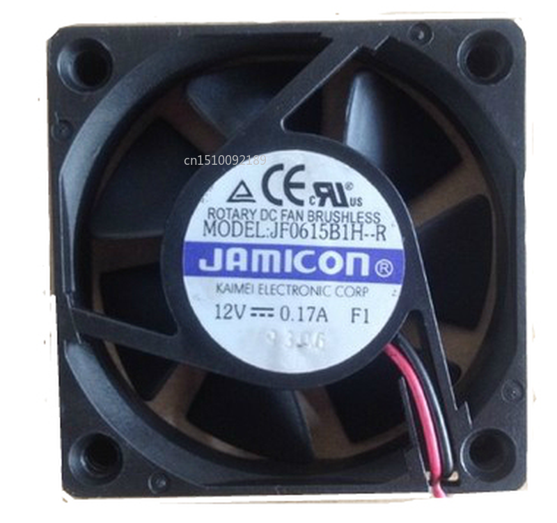 Free Shipping Riginal For JAMICON JF0615B1H-R DC12V 0.17A 6015 60 * 60 * 15MM2P Line Cooling Fan