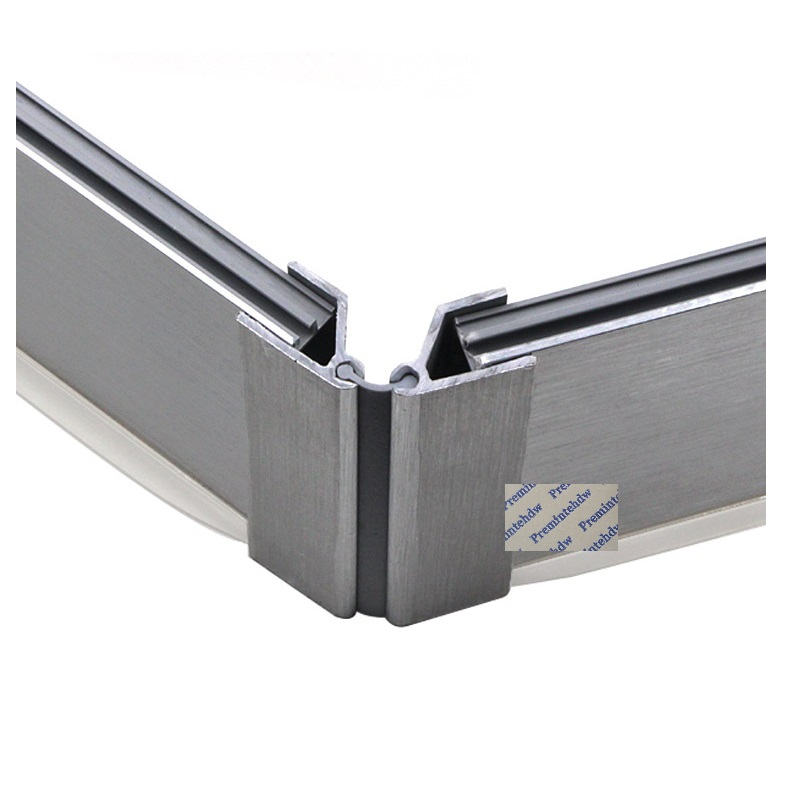 20pcs Keuken Plint 90 Graden Hoek Connector Teen Kick Board Aansluiten Geborsteld Aluminium Folie Pvc Kick Er Board Furniture Accessories Aliexpress