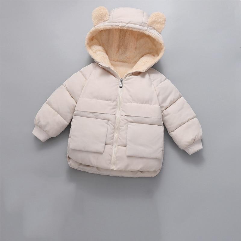 CROAL CHERIE Girls Coat Kids Winter Jacket For Boys Warm Fleece Boys Clothes Children Parkas Velvet Outerwear 90-130cm (5)