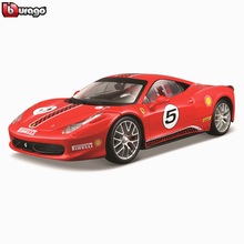 Bburago 1:24 Ferrari 458RAD collection manufacturer authorized simulation alloy car model crafts decoration toy tools