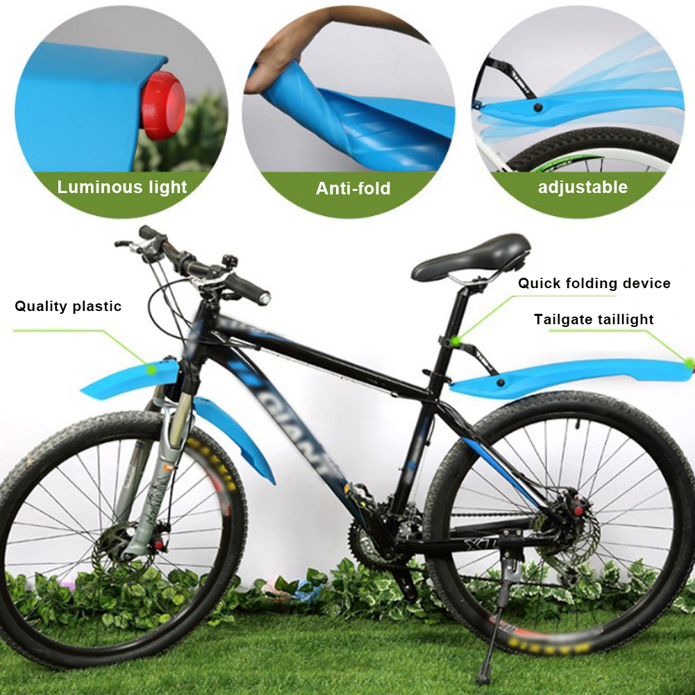 Bike Fender Bicycle Taillight Fender Cycling Mountain Bike Mud Guards Mtb Mudguard 3 Colors Wings For Bicycle Bike Accessories
