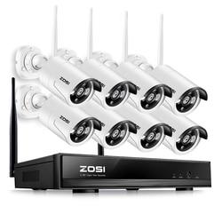 ZOSI 8CH Wireless CCTV System 960P HD NVR kit with Outdoor IR Night IP Camera wifi Camera Security System Surveillance Kits