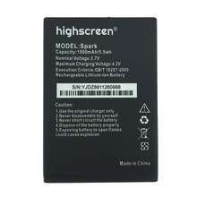 2pcs NEW Original 1500mAh Spark  battery for highscreen High Quality Battery+Tracking Number