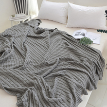 Nordic Throw Blanket  Knitted Blankets for Beds Bedspread Bedding Knitted Blanket Air Conditioning Comfy  Weighted Blanket native american inspired wave stripe knitted throw blanket