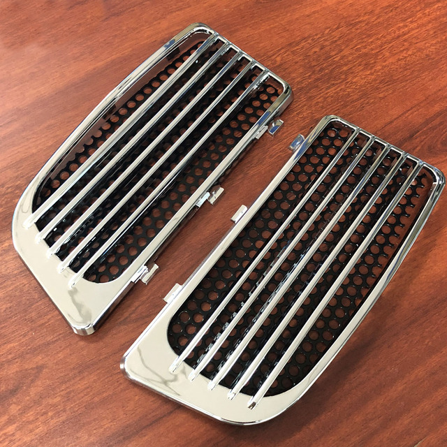 Chrome Radiator Grills&Screens For Harley 2014-2019 Touring Street Glide Road King With Twin Cooled Models