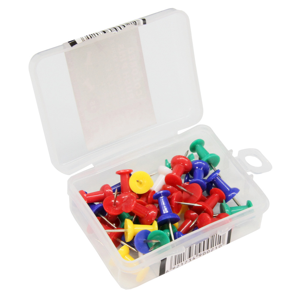 Deli 0021 Corkboard Push Pin American-Style Pushpin Press Stud Hobnail Writing Photo Nail Color Push Pin
