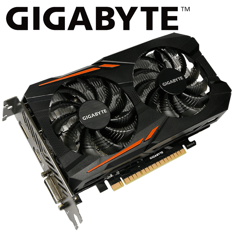 Gigabyte Graphics Card <font><b>GTX</b></font> 1050 Ti CN 4GB <font><b>NVIDIA</b></font> <font><b>GeForce</b></font> <font><b>GTX</b></font> <font><b>1050Ti</b></font> GDDR5 128bit PCI 3.0 DVI HDMI used card image