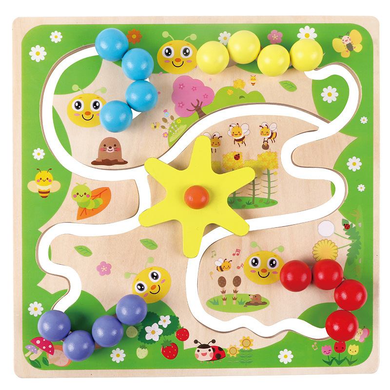 2020 New Four-color Positioning Game Children's Logical Thinking Training Learning Wooden Early Education Science Education Toys