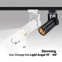 New Dimmable Led Spotlight 25W Rotation adjustable beam angle AC85 265 LED high quality Track Spotlight Tracking Rail Lighting Track Lighting     -