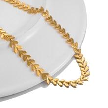 2021 nova moda colar de corrente fishbone avião forma colar de ouro jóias populares