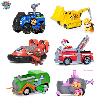 Genuine Paw Patrol Dog Toy Set Anime Model Puppy Patrol Rescue Car Action Figure Dog Patrol Children Birthday Set кроссовки patrol patrol pa050awalfg0