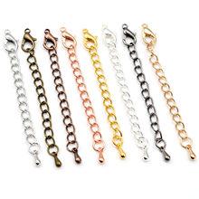 10 pçs/lote 50 70mm tom extensão estendida cauda corrente lagosta fechos conector para diy jóias fazendo descobertas pulseira colar