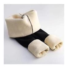 Pants Trousers Leggings Lambskin Velvet Wool Fleece Warm Thick Female Winter Women