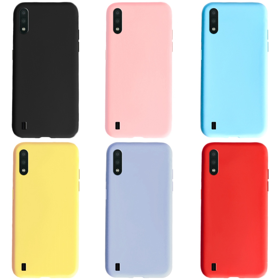 For Samsung A01 Case Candy Color Silicone Back Cover For Samsung Galaxy A01 A11 A51 A71 A91 2020 SM-A015 Soft TPU Phone Cases