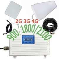 900 1800 2100 mhz komórkowy wzmacniacz sygnału GSM tri-band komórkowy wzmacniacz sygnału 2G 3G 4G LTE komórkowy wzmacniacz GSM DCS WCDMA zestaw