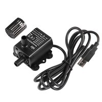 Decdeal Ultra-quiet Mini Brushless DC/USB Water Pump 5/12V 5-10W 250-400L/H Lift 300cm Submersible Fountain Aquarium Circulating