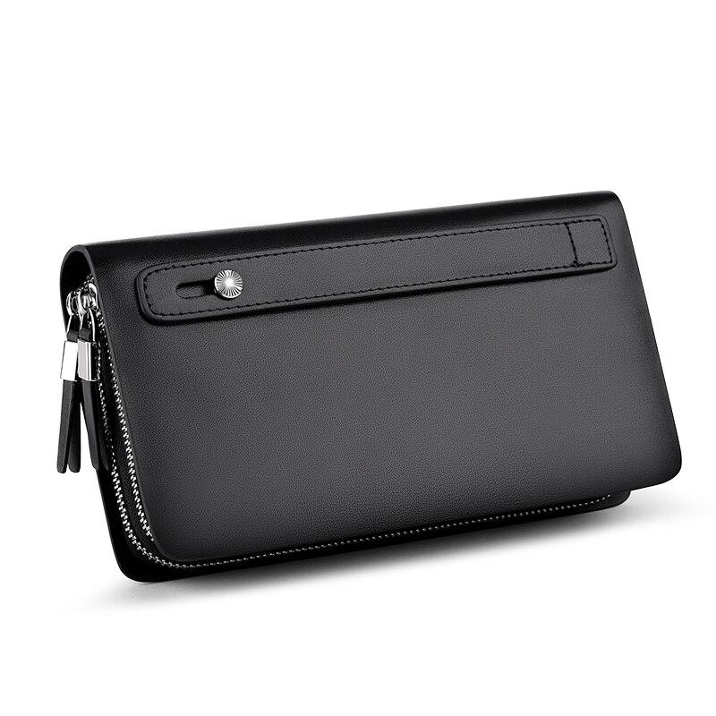 WILLIAMPOLO hommes portefeuille en cuir véritable sac à main mode décontracté Lonog affaires hommes pochette portefeuilles hommes sacs à main PL239 - 3