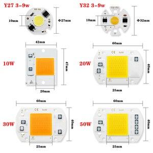 COB LED Chip AC 220V 240V 50W 30W 20W 10W 9W 7W 5W 3W No Need Driver Smart IC Led Lamp Bulb For Diy Spotlight Flood lighting
