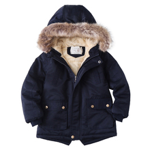 Hooded Jacket Padded Coat Girls Boys Winter Cotton Children's New And Plush