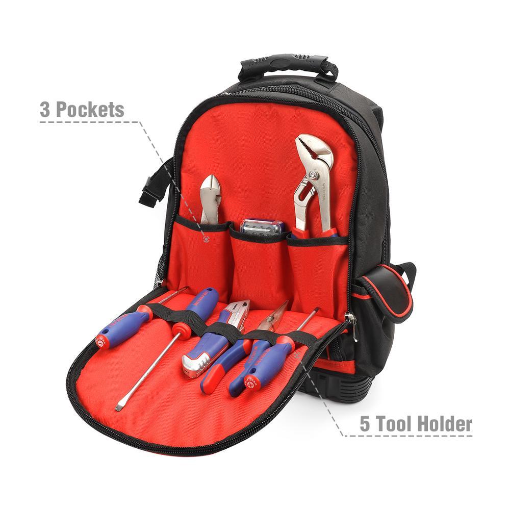 WORKPRO 2020 New Tool Bag Zaino da 17 '' Organizer impermeabile Borsa - Portautensili - Fotografia 5